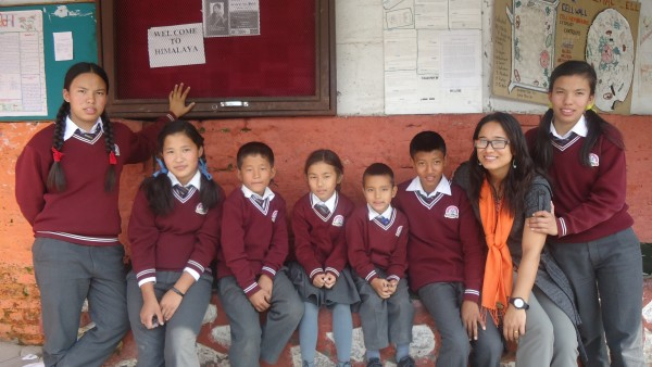 Visiting our scholars from Himalaya Boarding High School.