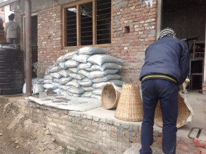 Bags of cement