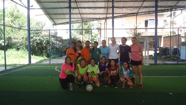 First girls futsal game.