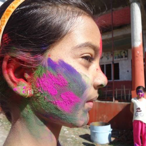 Holi with some Zumba for Girls in Action